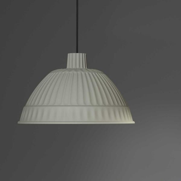 Cloche Suspension lamp plastic polymer diffuser 40W E27