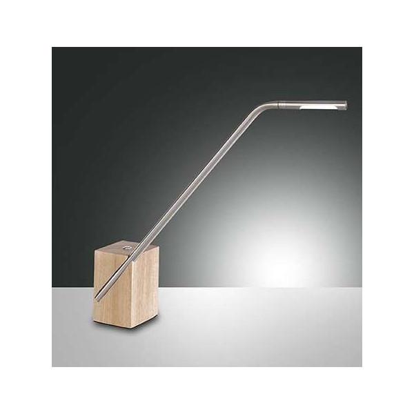 Viktor lampada da tavolo struttura in metallo e legno Led 6W