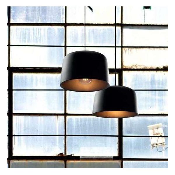 Elmet lampada a sospensione corpo e riflettore in alluminio verniciato 40W E27