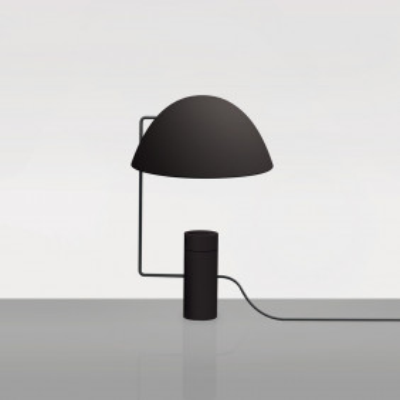 Mia nera lampada da tavolo...