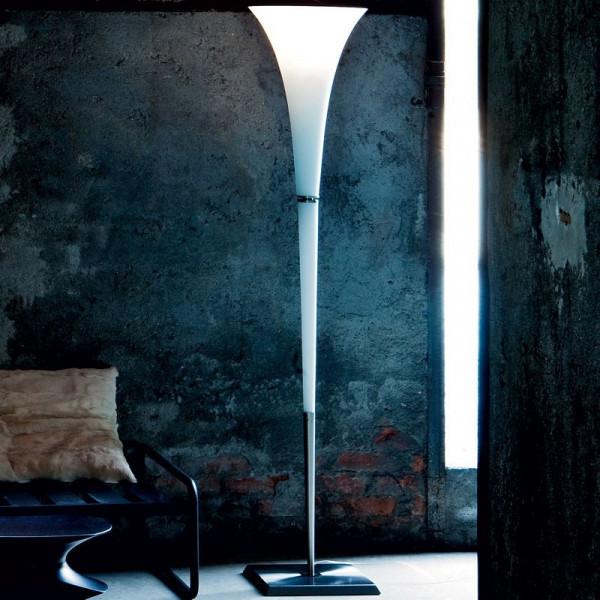 Diffuseur de lampadaire Olimpia R en verre blanc satiné 205W E27
