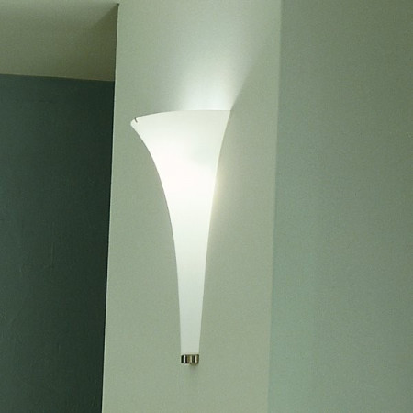 Olimpia A Applique diffuseur en verre blanc satiné 120W R7s