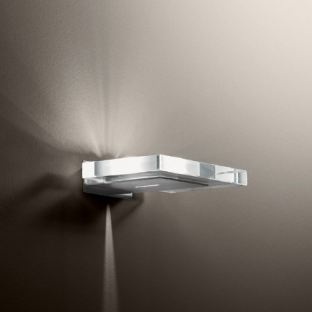 Tau A Wall lamp sheet in extraclear glass 60W G9