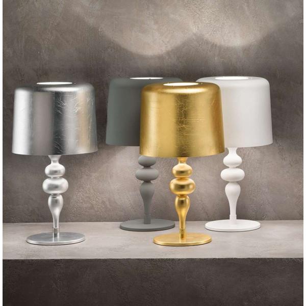 Eva TL1 M Table lamp lampshades in painted aluminium 60W E27