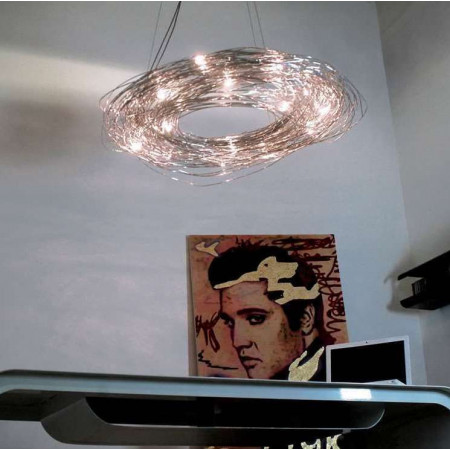 Confusione S 100 Suspension lamp in anodized aluminium wire
