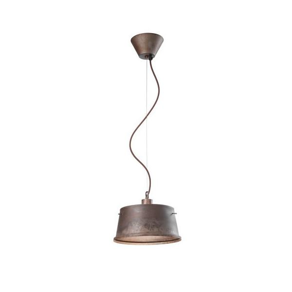 Khonus DM.30 H.16 Suspension lamp in antique iron 77W E27
