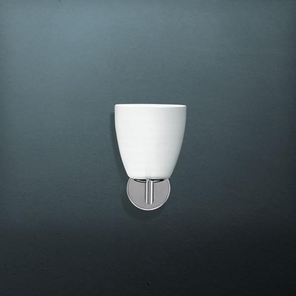 006/1 lampada da parete diffusore in vetro soffiato satinato bianco 42W E14