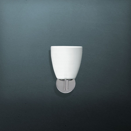 006/1 Wall lamp white frosted blown glass diffuser 42W E14