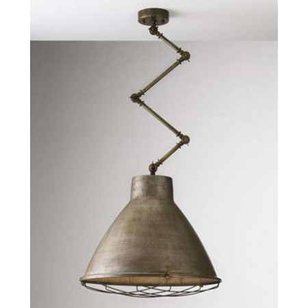 Loft Large c/snodo 1 light Suspension lamp in iron with brass frame