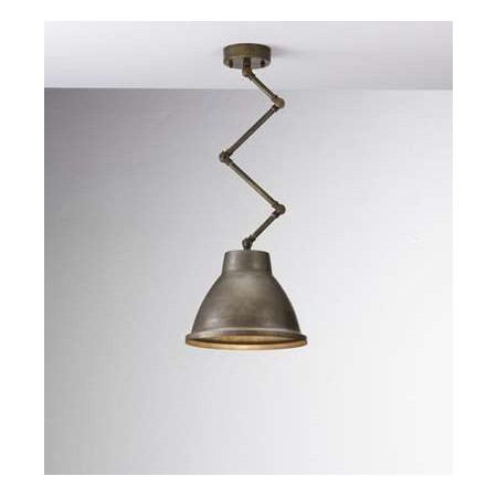 Loft Small c/snodo 1 light Suspension lamp in iron with brass frame