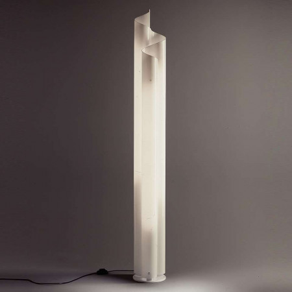 Lampadaire Chimera en méthacrylate blanc opale 28W G5