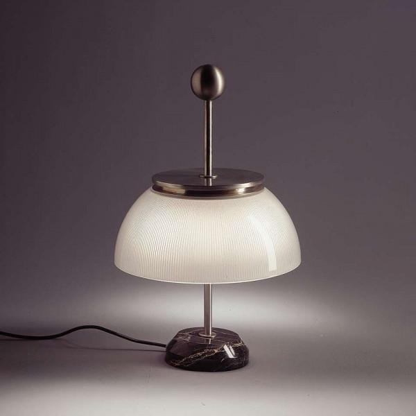 Structure de la lampe de table Alfa en métal nickelé mat 30W E14