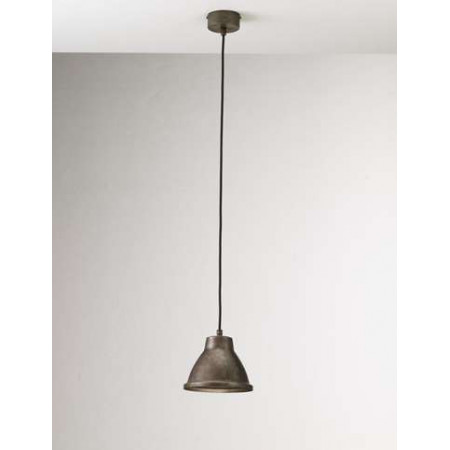 Loft Mini c/cavo 1 light Suspension lamp in iron with brass frame
