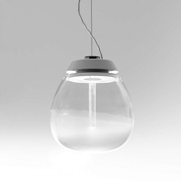 Empatia 26 Suspension lamp glass diffuser Led 16W 3000K