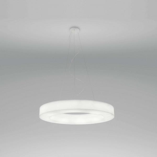Saturn 7650 Suspension lamp in white polyethylene Led 98W 3000K