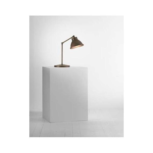 Loft c/snodo 1 luce lampada da tavolo in ferro con montatura in ottone
