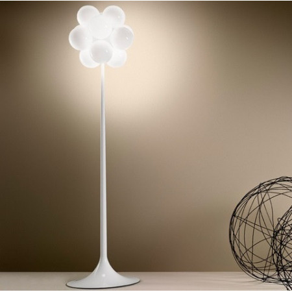 Diffuseurs de lampadaire Babol R en verre blanc brillant 20W G9