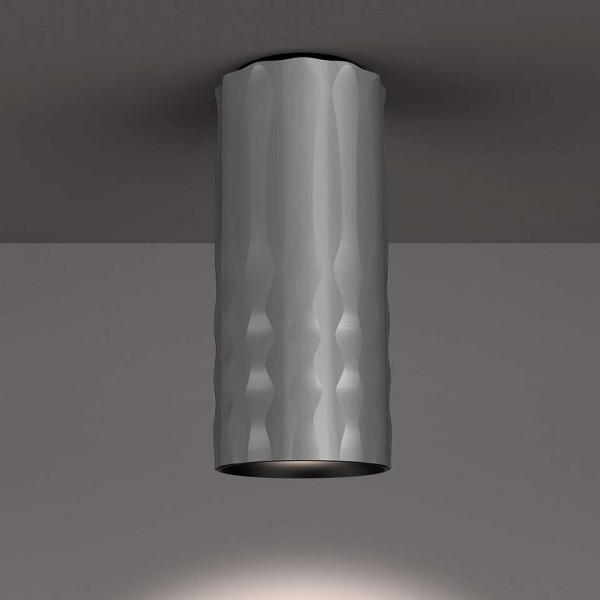 Plafonnier Fiamma 30 corps en aluminium anodisé et diffuseur transparent Led 28W 3000K