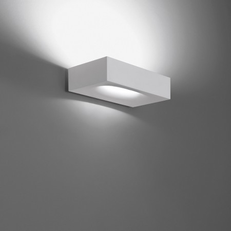 Melete Wall lamp in white painted aluminium