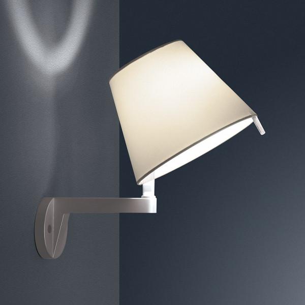 Melampo Wall lamp diffuser in silk satin fabric 46W E14