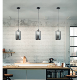 Silo Suspension lamp black...