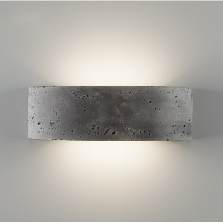 2489A Wall lamp in lightened concrete Led 18W