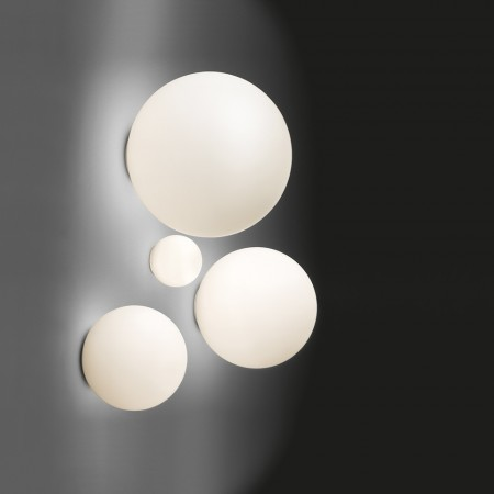 Dioscuri 25 Wall/Ceiling lamp IP65 in blown glass 77W E27