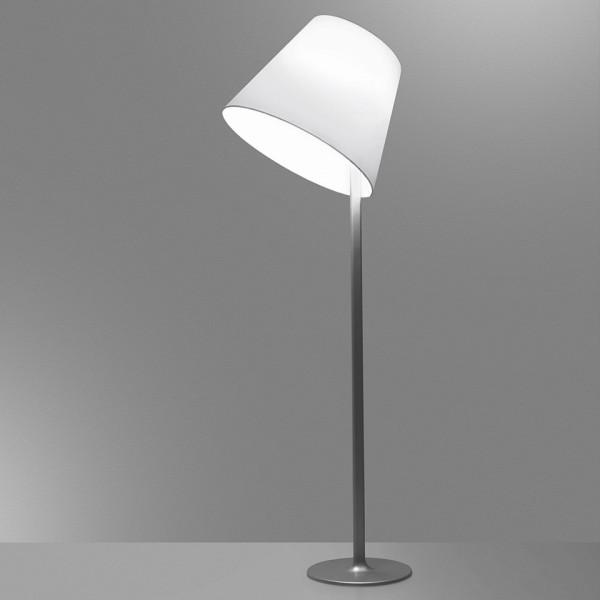 Melampo Mega lampada da terra diffusore in raso di seta 150W E27