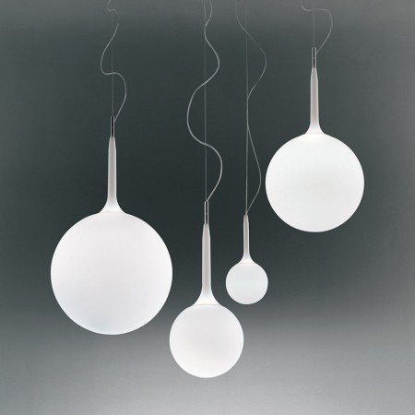 Castore 14 lampada a sospensione in vetro soffiato 48W G9