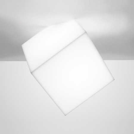 Edge 30 Wall/Ceiling lamp IP65 diffuser in thermoplastic material 23W E27