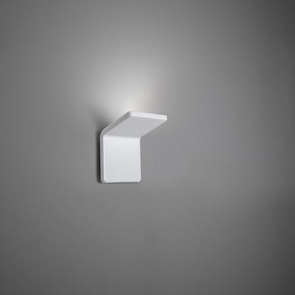 Cuma 10 lampada da parete struttura in alluminio verniciato bianco opaco Led 14W 3000K