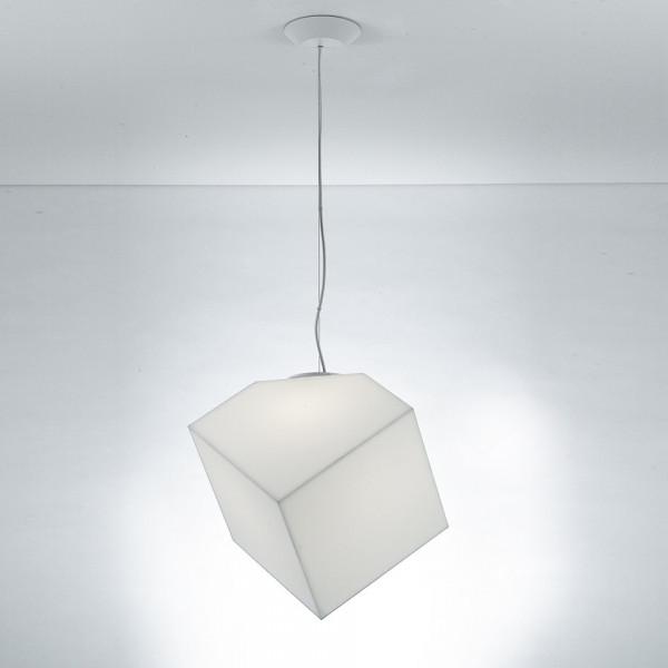Lampe à suspension Edge 30 diffuseur IP65 en matière thermoplastique 23W E27
