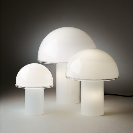 Onfale Small Table lamp in opaline blown glass