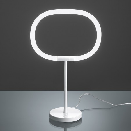 Halo Table lamp nase and stem in white painted metal Led 13,5W 4000K