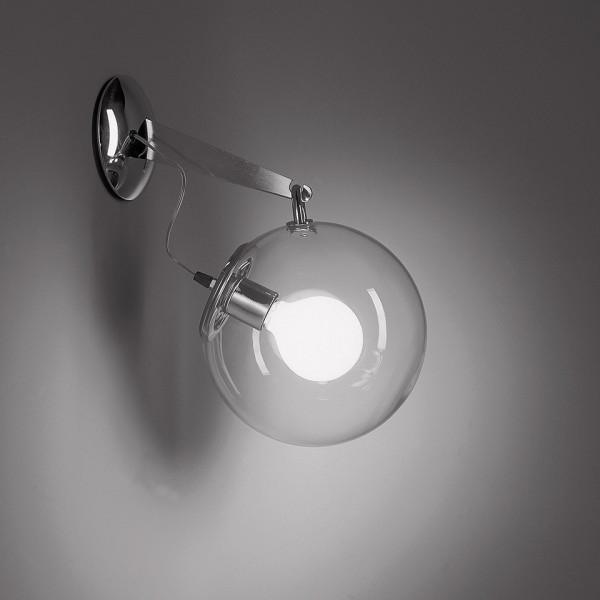 Miconos lampada da parete diffusore in vetro soffiato trasparente 20W E27