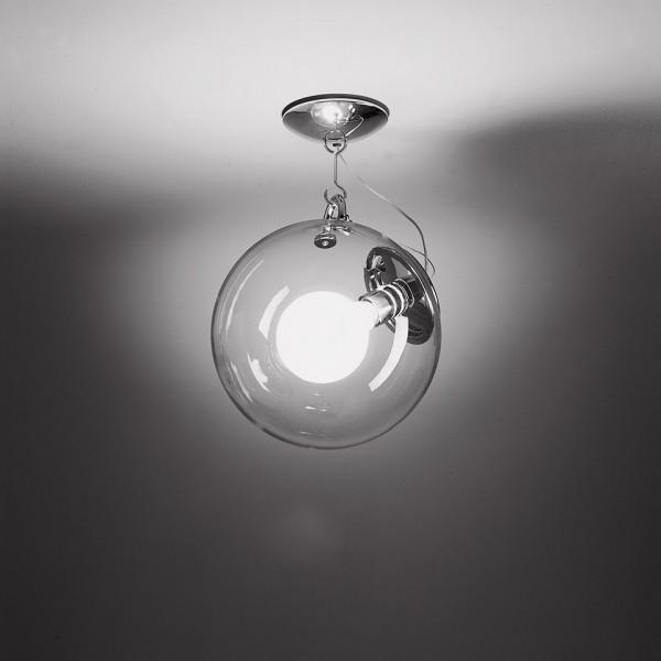 Miconos lampada da soffitto diffusore in vetro soffiato trasparente 23W E27