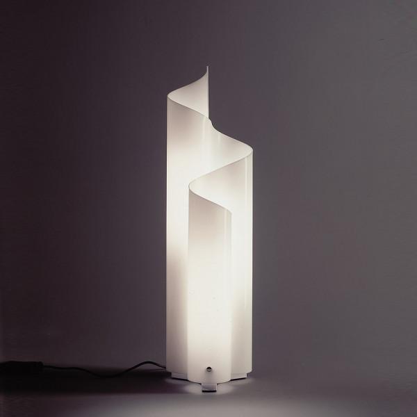 Mezzachimera lampada da tavolo in metacrilato opalino 46W E27