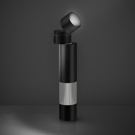 Objective Table lamp body in painted aluminum