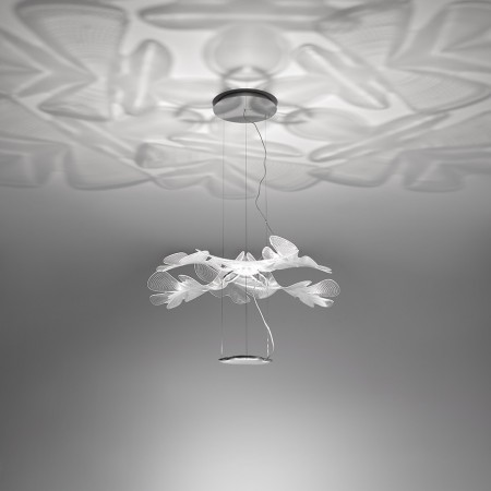Chlorophilia Suspension lamp structure in die-cast aluminum and technopolymer leafs clear finish Led 44W 3000K