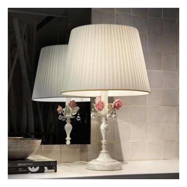Ceramic Garden TL1G lampada da tavolo paralume in pongè 60W E27