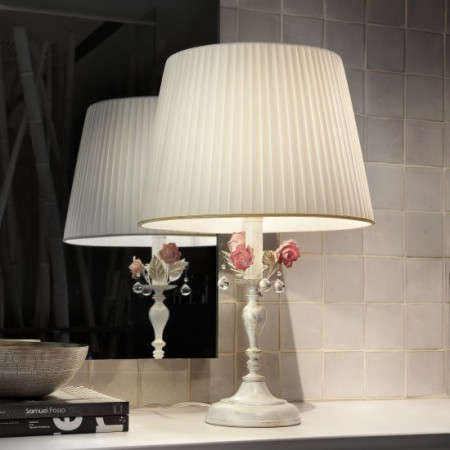 Ceramic Garden TL1G Table lamp lampshade in pongè 60W E27