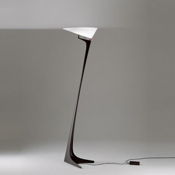 Montjuic lampada da terra diffusore in metacrilato opalino bianco 400W R7s