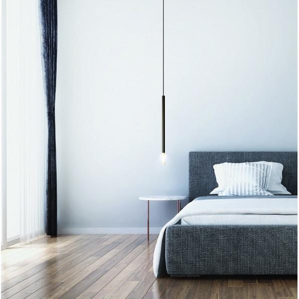 Zen 105/21 lampada a sospensione tubi in acciaio e diffusori in borosilicato 10W G9