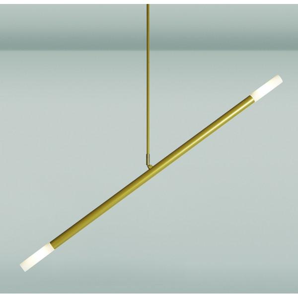 Zen 105/22 lampada a sospensione tubi in acciaio e diffusori in borosilicato 10W G9