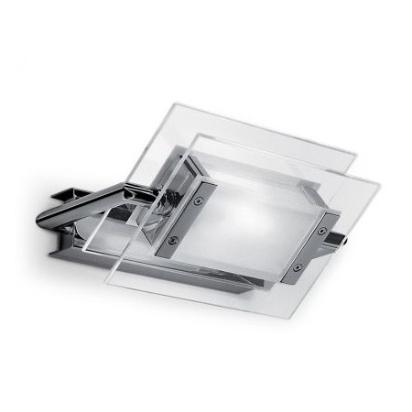 Trecentosessantagradi 120 lampada da parete/soffitto in vetro termoresistente lucido e montatura in metallo - N.2 Pezzi in stock