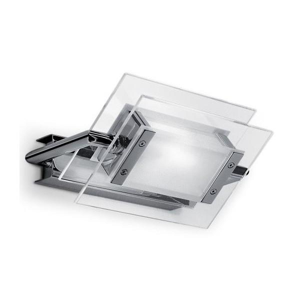 Trecentosessantagradi 200 lampada da parete/soffitto in vetro termoresistente lucido e montatura in metallo - N.2 Pezzi in stock