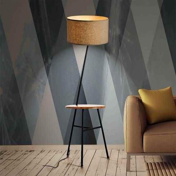 Comoda Floor lamp wooden table 24W E27