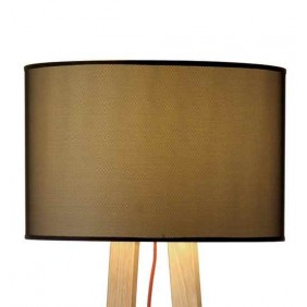 Maiko Floor lamp wooden frame and fabric