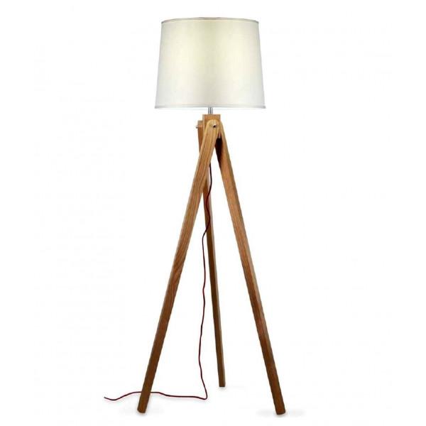 Zaria lampada da terra struttura in legno e paralume in tessuto 25W E27