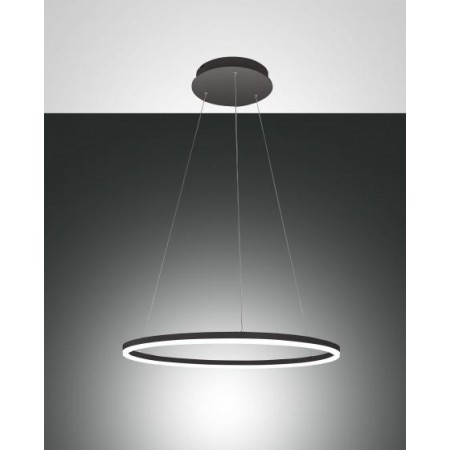 Giotto Suspension lamp metal frame and methacrylate diffuser Led 36W